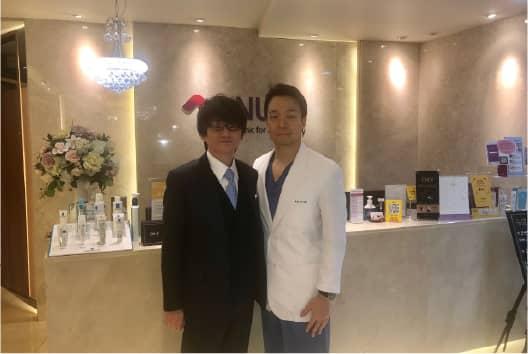 韓国アンチエイジング専門クリニックを訪問の写真